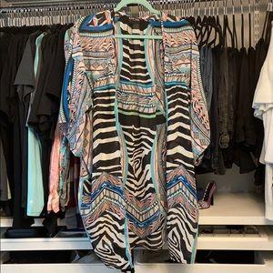Vibrant Zebra Print Express Kimono
